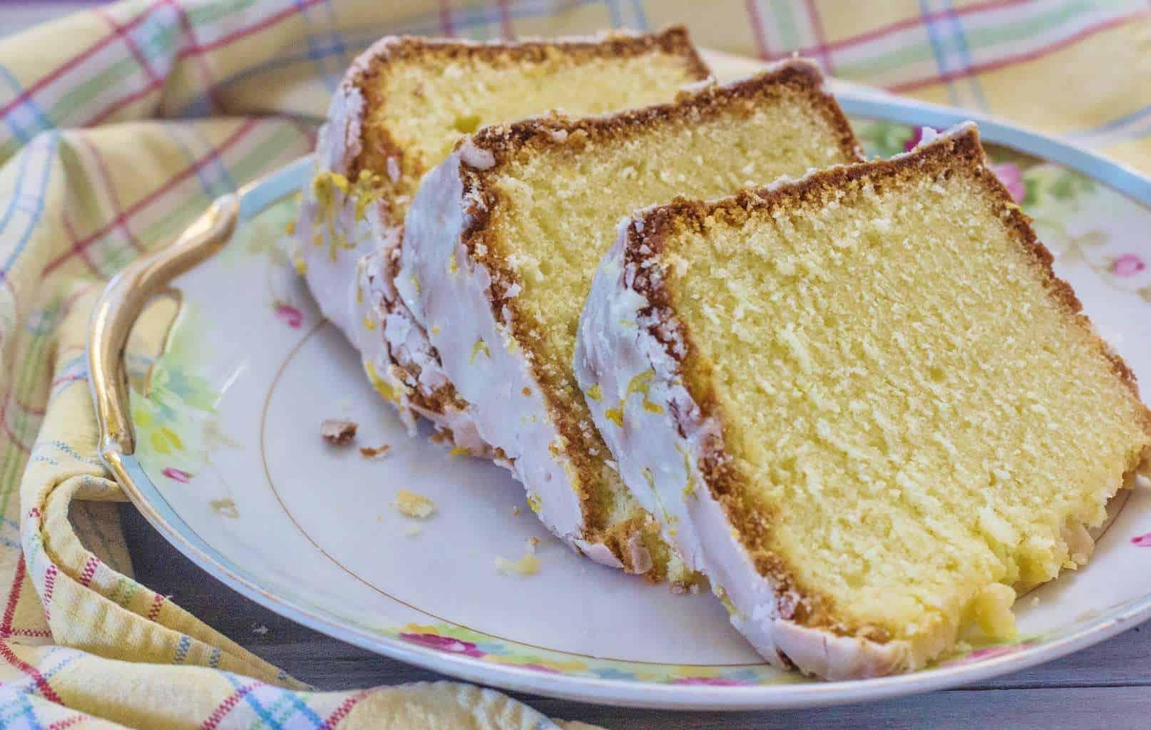 Lemon Pound Cake with Lemon Glaze