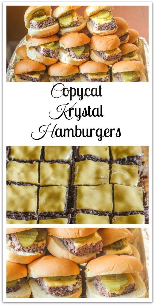 Copycat Krystal Hamburgers.An easy to make version of the original.