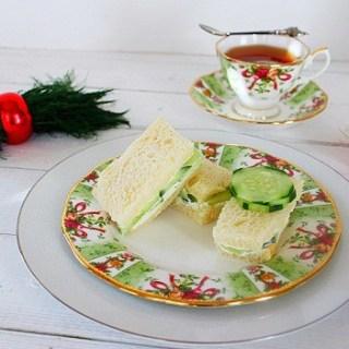 Cucumber Dill Tea Sandwich