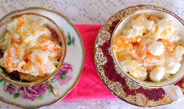 5 Cup Fruit Salad ~ Syrup and Biscuits