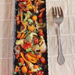 Roast the Rainbow (Recipe: Roasted  Vegetables)