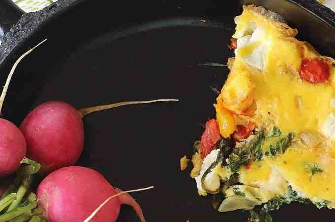 Arugula Tomato Goat Cheese Frittata