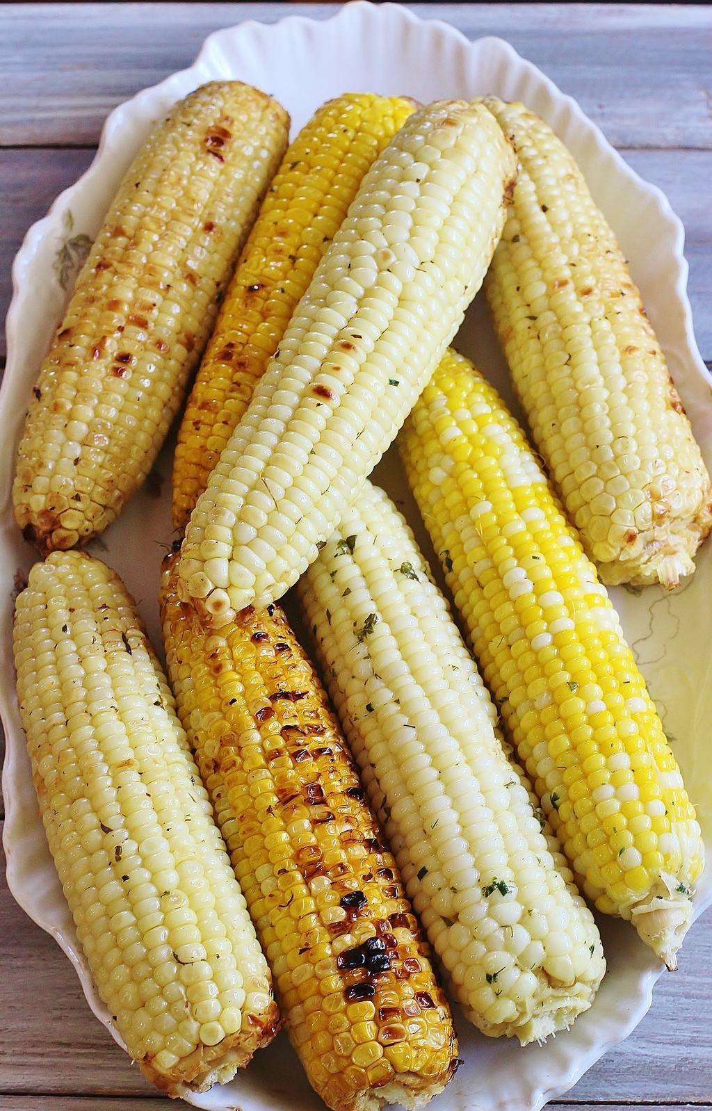 Herb and Parmesan Grilled Corn