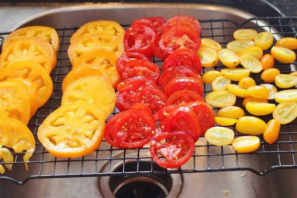 Sprinkle tomatoes with salt and let them drain for at least one hour before using them.