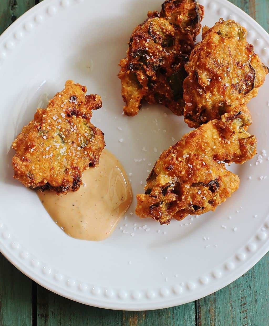 Okra Jalapeno Fritters