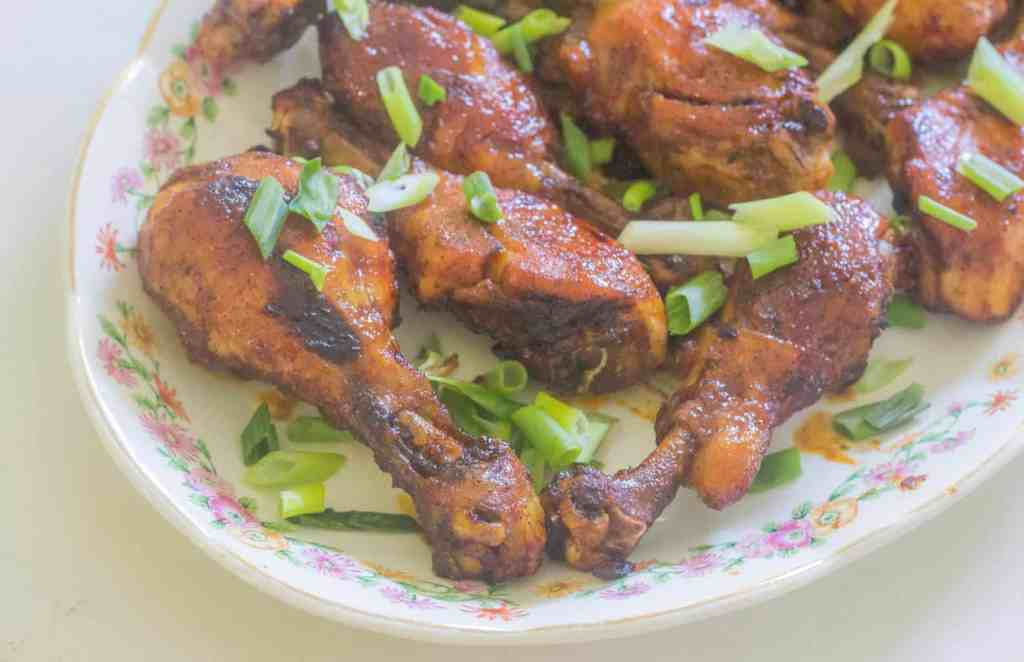 Sweet and Spicy Chili Chicken Drumsticks. Sweet from apricot preserves and heat from hot sauce makes these drumsticks a great appetizer or main course.