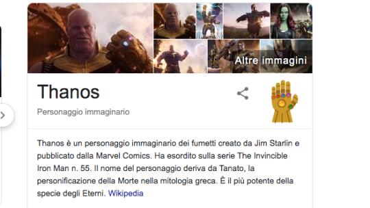 """Scrivi """"Thanos"""" su Google per utilizzare il Guanto dell'Infinito"""