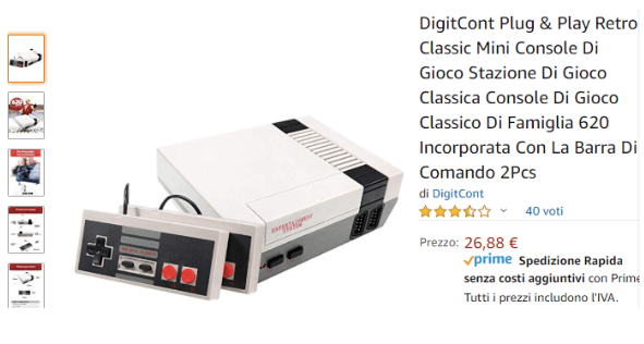 Su Amazon la Categoria Giochi Anni 80