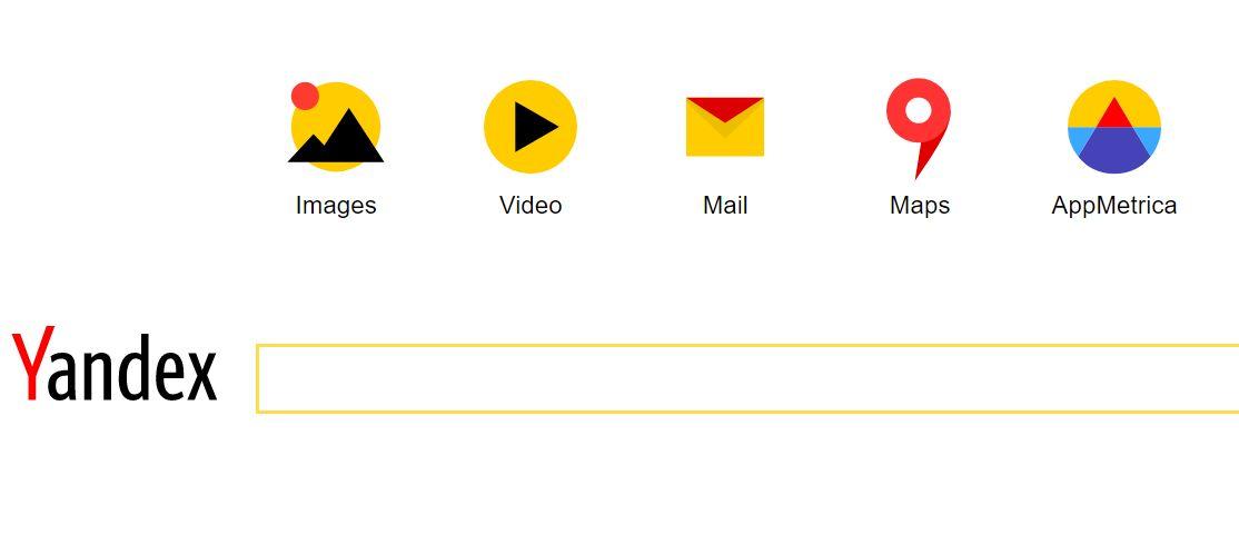Utilizza il motore di ricerca russo Yandex
