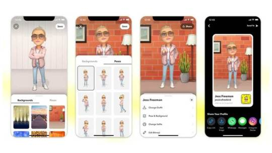 Su Snapchat arrivano le nuove Bitmoji 3D