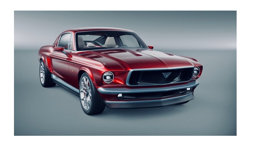 Ретро-электромобиль Mustang tesla из России