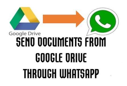 How to share a Google Drive folder on WhatsApp.
