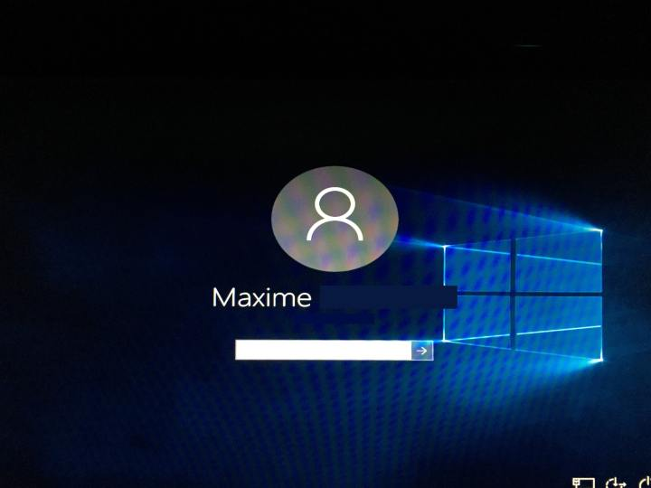 Windows 10 - Ecran de login