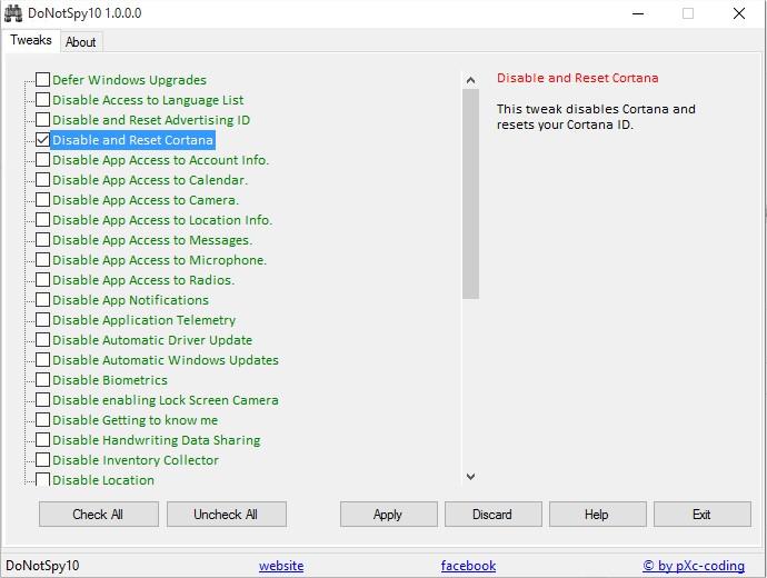 Windows 10 - Confidentialité - DoNotSpy_2
