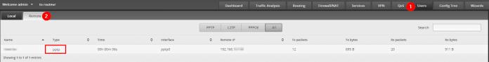 ERL Configurer un VPN PPTP - Utilisateurs