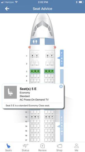 392x696bb 3 1 - تطبيق SeatGuru للمسافرين - يخبرك بأفضل الكراسي بالطائرة قبل الحجز ومميزات اخرى