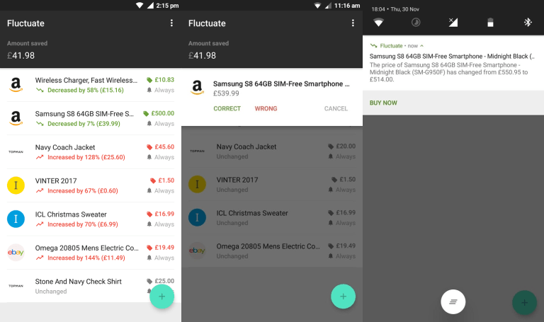 Fluctuate - تطبيق Fluctuate الأفضل لمتابعة حركة أسعار المنتجات على المتاجر الإلكترونية