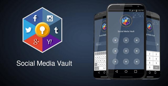 الصورة الرئيسية - تطبيق Social media Vault لفتح العديد من تطبيقات التواصل الاجتماعي في نفس الوقت