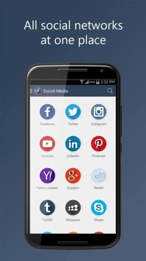 social media 1 - تطبيق Social media Vault لفتح العديد من تطبيقات التواصل الاجتماعي في نفس الوقت