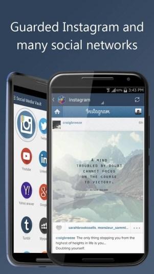 social media 4 - تطبيق Social media Vault لفتح العديد من تطبيقات التواصل الاجتماعي في نفس الوقت
