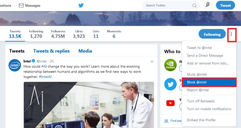 twitter block 768x407 - خطوات تجاهل حسابات وتغريدات المتابعين المزعجين على تويتر دون إخطارهم