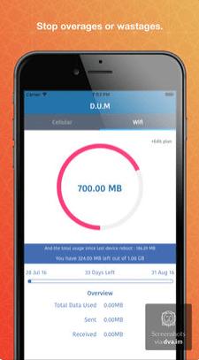 111 - تطبيق DUM Data usage manager لحساب استهلاكك من الانترنت سواء كان باقة أو وايفاي
