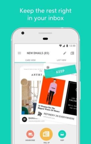 3.webp  8 - تطبيق Unroll.Me لحظر الرسائل الإعلانية المزعجة على الإيميل، للآندرويد والآيفون