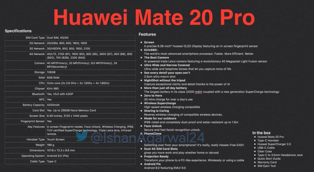 DpZ6OsbWsAAf5aZ 1024x562 - قبل أيام من إطلاقه، تسريب جميع مواصفات جوال هواوي الرائد القادم Mate 20