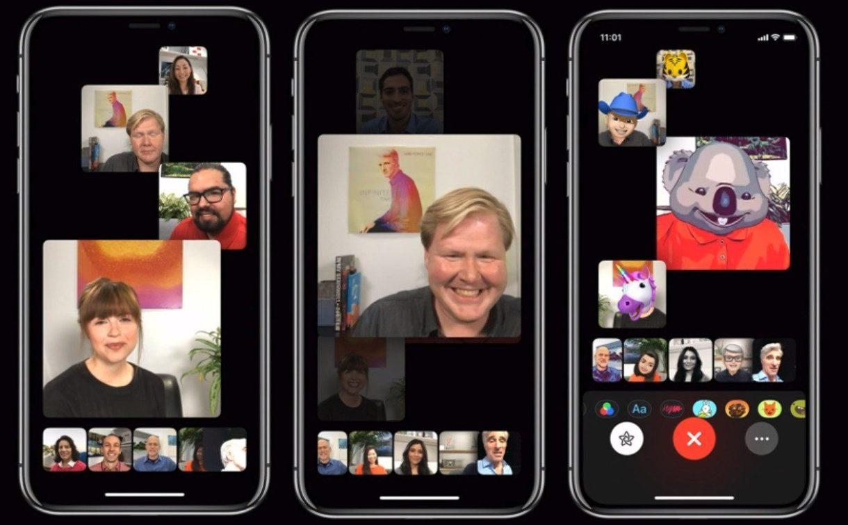 groupfacetime wwdc 1262x782 - هكذا تستطيع بسهولة إجراء مكالمات جماعية في فيس تايم بنظام التشغيل iOS 12