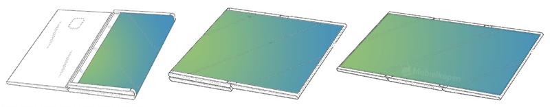 samsung dual fold flat - تسريب صور براءة اختراع جديدة مقدمة من شركة سامسونج لتابلت قابل للطي