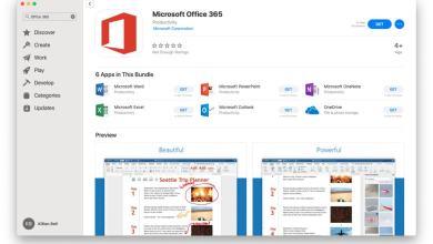 صورة وأخيراً حزمة مايكروسوفت اوفيس 365 تتوفر على متجر Mac App Store