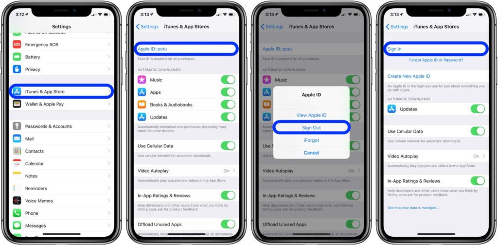 3 2 - تعرف على كيفية تغيير حساب Apple ID لـ iTunes وApp Store على آيفون