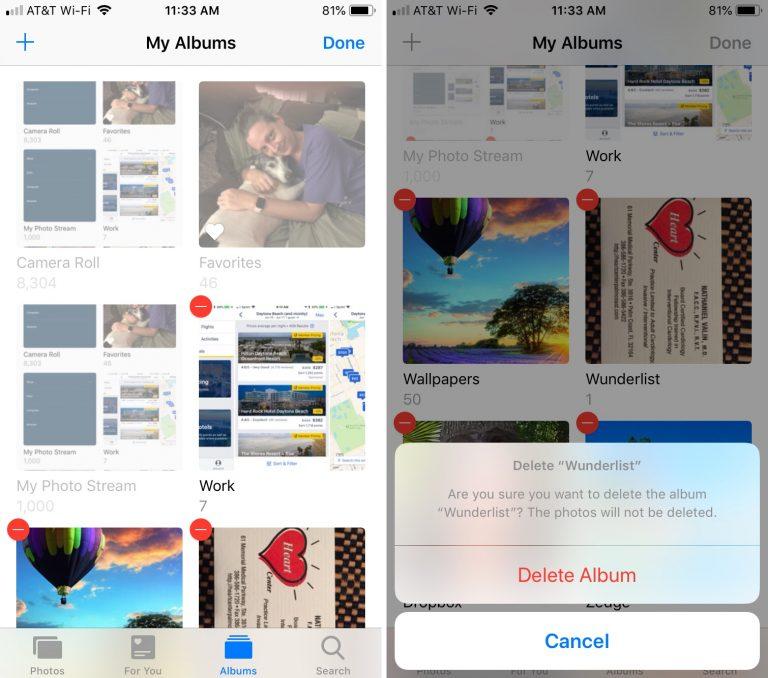 2 - بالصور.. تعرف على كيفية حذف ألبومات الصور على أجهزة آبل، آيفون وآيباد