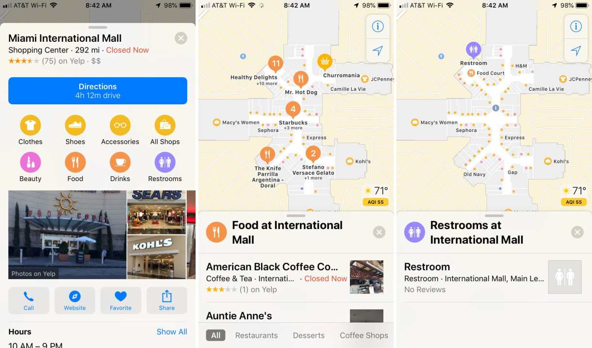 33 2 - بالصور.. تعرف على كيفية استخدام الخرائط الداخلية للمطارات ومراكز التسوق في خرائط آبل