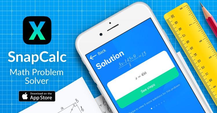 snapcalc - تطبيق SnapCalc لحل المسائل الرياضية بسهولة بالتقاط الصور لها