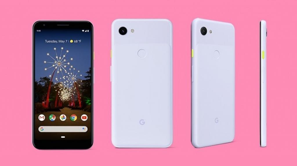 Google Pixel 3a in White 1024x575 - جوجل تكشف عن الصور الترويجية لجوالي بيكسل 3a و3a XL قبل مؤتمر الكشف عنهم