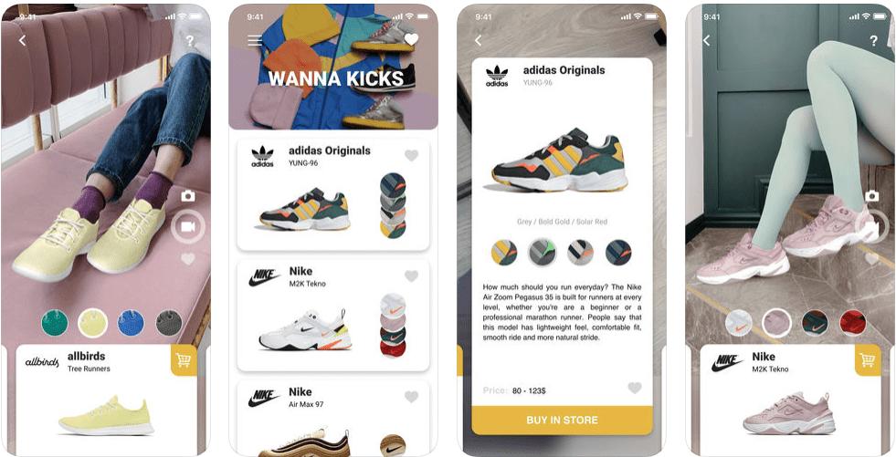 1 3 - تطبيق Wanna Kicks يتيح لك تجربة أي حذاء يعجبك قبل شراءه عن طريق تقنيات الواقع المعزز