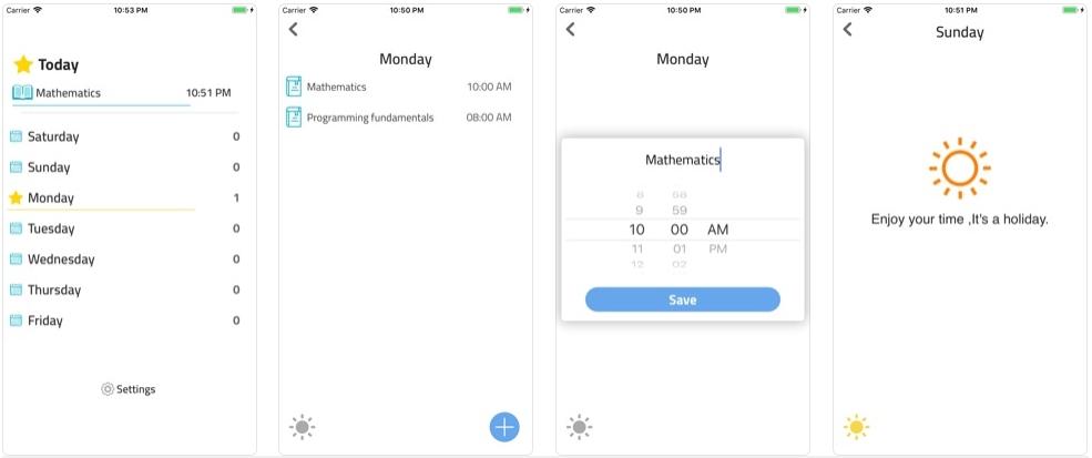 2019 10 21 06 09 54 NextLecture on the App Store - تطبيق NextLecture لتنظيم جدول المحاضرات الجامعية وتذكيرك بها