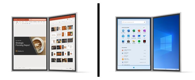 Microsoft Surface Neo - تعرف على نظام Windows 10X المخصص لتشغيل الكمبيوترات المحمولة بشاشة مزدوجة