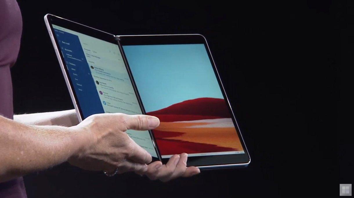 dims - مايكروسوفت تكشف عن جهاز Surface Neo بشاشة مزدوجة مع إصدار خاص من ويندوز 10