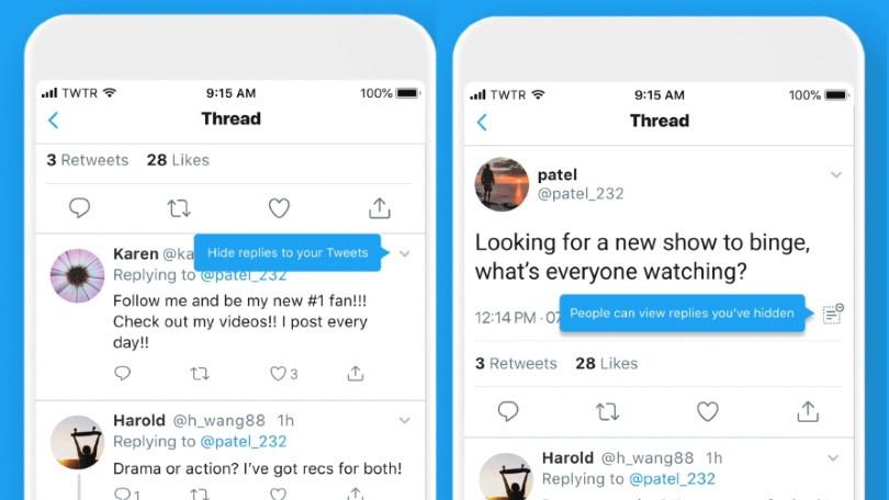 تويتر - تعرّف على طريقة إخفاء الردود على التغريدات في تويتر وفائدتها
