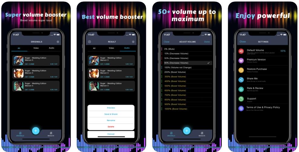 2020 01 19 13 49 33 Window - تطبيق Volume Booster يرفع من مستوى الصوت بالجوال إلى 200% وأكثر