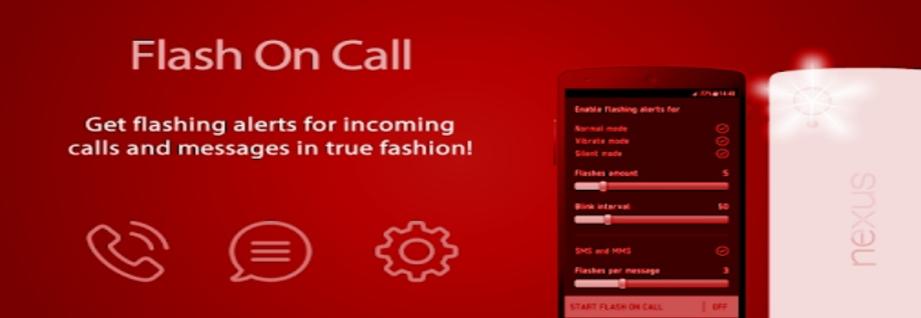 تطبيق فلاش أون كول flash on call - كيفية تشغيل الفلاش عند الاتصال اوبو oppo f9 و هواوي