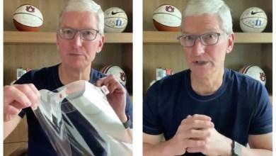 صورة فيديو.. تيم كوك يكشف عن إنتاج آبل أقنعة واقية من كورونا COVID-19