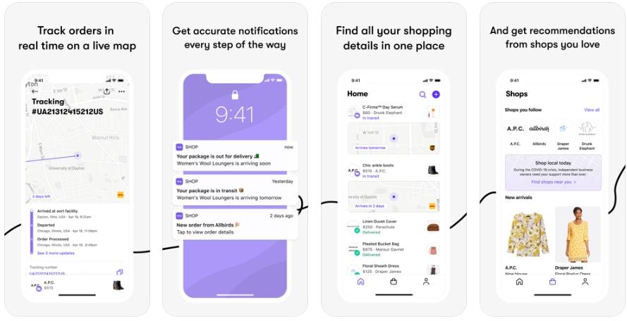 2020 05 03 20 42 32 Shop  delivery order tracker on the App Store - تطبيق Shop لتتبع عمليات الشراء من أشهر المتاجر الإلكترونية الأمريكية