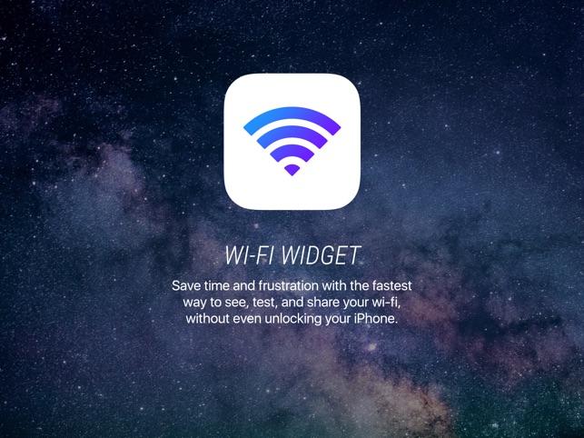 643x0w - تطبيق Wifi Widget - تطبيق مفيد يسهل استخدام الواي فاي على آيفون