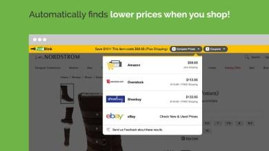صورة إضافة PriceBlink لاقتراح أرخص سعر على 11 ألف متجر عند التسوق أون لاين