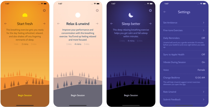 2020 06 01 19 48 14 Unwind Mindful Breathing on the App Store - تطبيق Unwind يقدم تمارين التنفس والاسترخاء