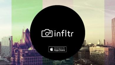 صورة تحميل برنامج infltr للاندرويد apk لتحرير الصور وتغيير المؤثرات