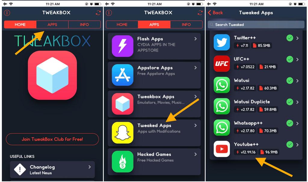 تحميل برنامج tweakbox للايفون مجانا 2 - تحميل برنامج tweakbox للايفون مجانا في 6 خطوات سهلة
